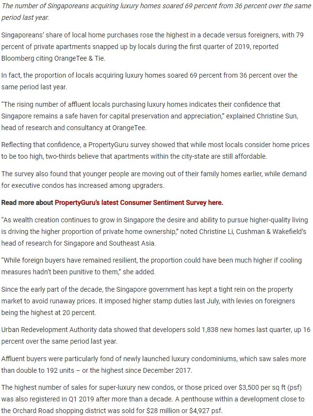 riviere-condo-Private-Home-Acquisition-By-Singaporeans-Soar-In-Q1-2019-article-singapore