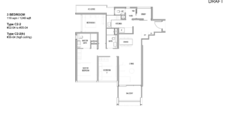 riviere-condo-floor-plan-3-bedroom-singapore